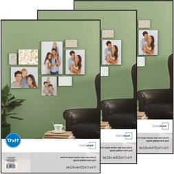 Mainstay 11x17 Picture Frame with Glass, Set of 3