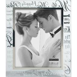 Malden International Designs Mirrored Glass Mr and Mrs Border 8 x 10