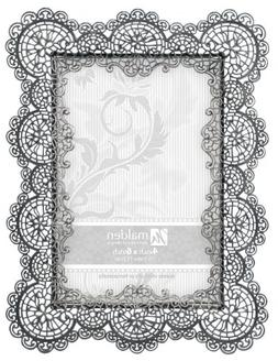 Malden International Designs Sabella Lace Metal Picture Fram