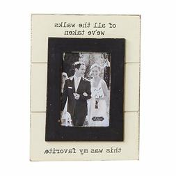 """Mud Pie """"Wedding Of All the Walks"""" Picture Frame"""