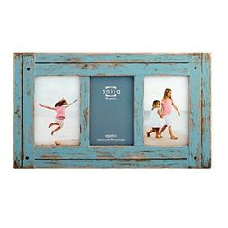 PRINZ 3 Opening Homestead Antique Wood Collage Frame, 4 x 6,