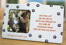 Pet Memorial Picture Frame - Paw Prints on my Heart Poem - I