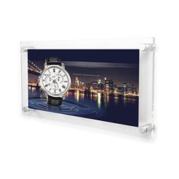 NIUBEE 10x20 Clear Acrylic Wall Mount Floating Photo Frame 3