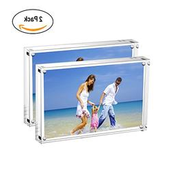 AmeiTech 5x7 Acrylic Photo Frame, Magnetic Picture Frames, 1
