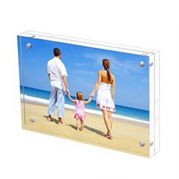 NIUBEE Acrylic Photo Frame 3.5x5 Gift Box Package, Double Si