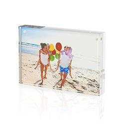 TWING Acrylic Photo Frame 4x6in Magnet Photo Frame -Double S