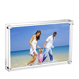 AmeiTech Acrylic Photo Frames,3.5x5'' Double Sided Magnetic