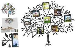 Adeco PF0566 Family Tree Metal Wall Hanging Decorative Colla