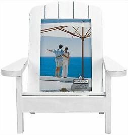 Adirondack Chair Picture Frame, White