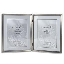 Lawrence Frames Antique Pewter 8x10 Hinged Double Picture Fr