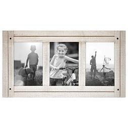 Americanflat 4x6 Aspen White Collage Distressed Wood Frame -