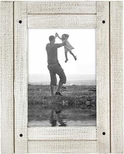 Americanflat 5x7 Aspen White Distressed Wood Frame - Made to