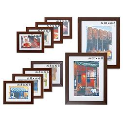 Lucky Tree 10 Pieces Assorted Wall Picture Frame Collage Set