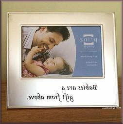 "Babies Are A Gift From Above Photo Frame by Prinz Holds 4"" H"