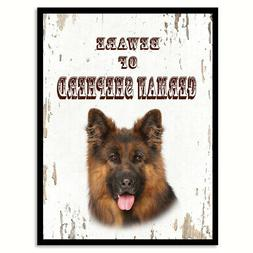 Beware of German Shepherd Dog Sign Gifts Canvas Print Home D