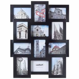 "VonHaus 4x6"" Black Collage Photo Picture Frame Family Wall D"