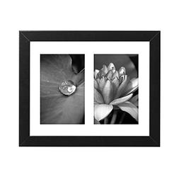 Americanflat 8x10 Black Collage Picture Frame with Two 4x6 O