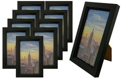 Frame Amo Black Picture Frame with Glass Front Face, Wall or