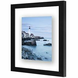 black floating picture frame lead free glass