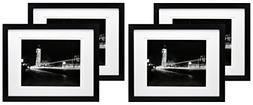 11x14 Black Gallery Picture Frame with 8x10 and 8.5x11 Mat -