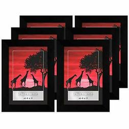 Americanflat Black Picture Frame- 6 Pack- Available in 4x6,