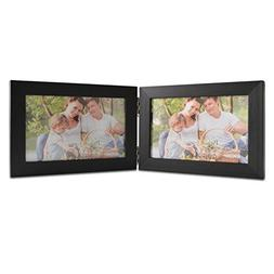 Giftgarden 4 by 6 Inch Black Picture Frame for Twin Photos 4