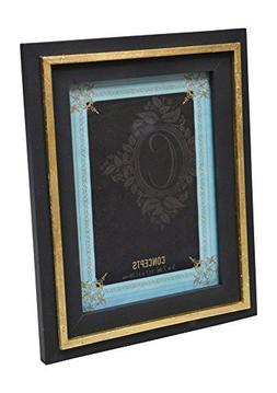 Concepts Black Picture Frame With Raised Gold Boarder And A