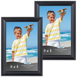 Icona Bay 4x6 Black Picture Frames , Wall Mount or Table Top