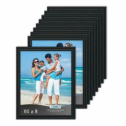 Icona Bay 8x10 Black Picture Frames Bulk Set , Wall Mount Ha