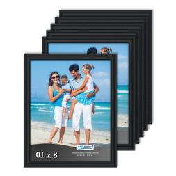Icona Bay Black Picture Frames Bulk Set , Wall Mount Hangers