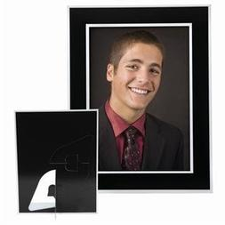 5x7 Black Plain Easel Paper Photo Frame - Pack of 100