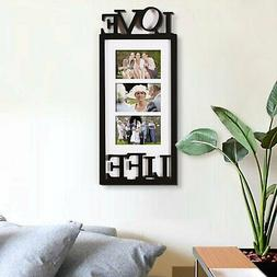 black white wood love life family wall