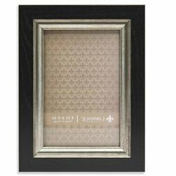 Lawrence Frames Black with Burnished Silver Picture Frame