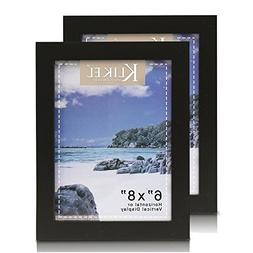 Klikel 6 X 8 Black Wooden Picture Frame - Black Wooden Wall