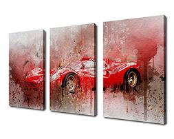 Canvas Wall Art Sport Car Painting Picture - Extra Large Can