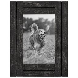 Americanflat 4x6 Charcoal Black Distressed Wood Frame - Made
