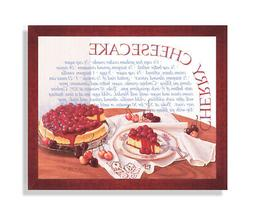 Cherry Cheesecake Home Kitchen Recipe Cafe Wall Picture Cher