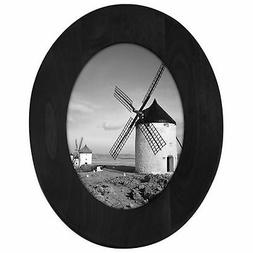 Malden International Designs Classic Oval Black Wood Picture