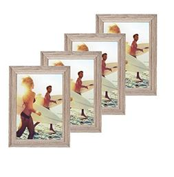 Classic Wooden Picture Frames 4x6  Display with Photo Glass