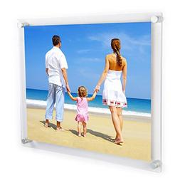 NIUBEE Clear Acrylic Wall Mount Floating Frameless Picture F