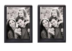 Clearance! 2-Pack Adeco Black Wood Shadow Box-style Photo Fr