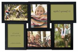 MCS Collage Frame with 6-5x7 Inch Openings, Black