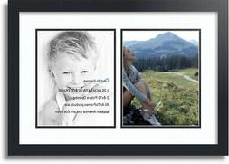 "ArtToFrames Collage Mat Picture Photo Frame 2 8x10"" Openings"