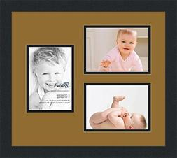 ArtToFrames Collage Photo Frame Double Mat with 3 - 5x7 Open