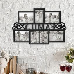 Collage Picture Frame Holds 7 Images Wall Hanging Multiple F