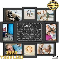 Collage Picture Frame Holds 8 Images   Horizontal Display NE