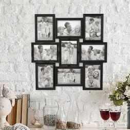 Collage Picture Frame Holds 9 Images Wall Hanging Multiple P
