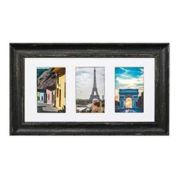 Eco-home Collage Picture Frame Set Brown - Holds Three 4x6 O