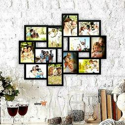 Collage Picture Frames Holds 4x6 12 Images Wall Hanging Mult