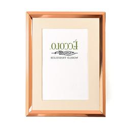 Eccolo World Traveler CP395 4 x 6 Beveled Matted Photo Frame